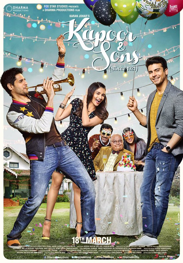 First Look, Alia Bhatt, Kapoor & Sons, Kapoor & Sons First Look, Kapoor & Sons First look Poster, Bollywood, Sidharth Malhotra