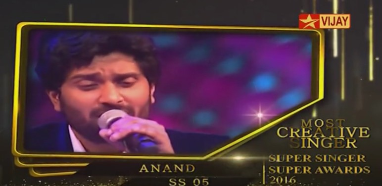 Super Singer, Super Singer Awards, Super Singer 5, Super Singer 5 Award Winners, Super Singer 2016 Awards, Anand Aravindakshan