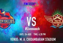 TNPL, TNPL Scorecard, Tamil Nadu Premier League, Chepauk Super Gillies, Tuti Patriots, CSGvTP
