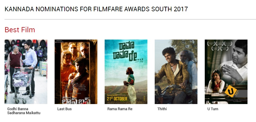 Filmfare Awards Kannada 2017