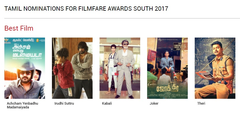 Filmfare Awards Tamil