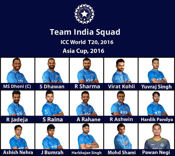 India Squad, Cricket, India Squad for t20 World cup, Team India T20 World Cup Squad, India Squad 2016, ICC T20 World Cup 2015