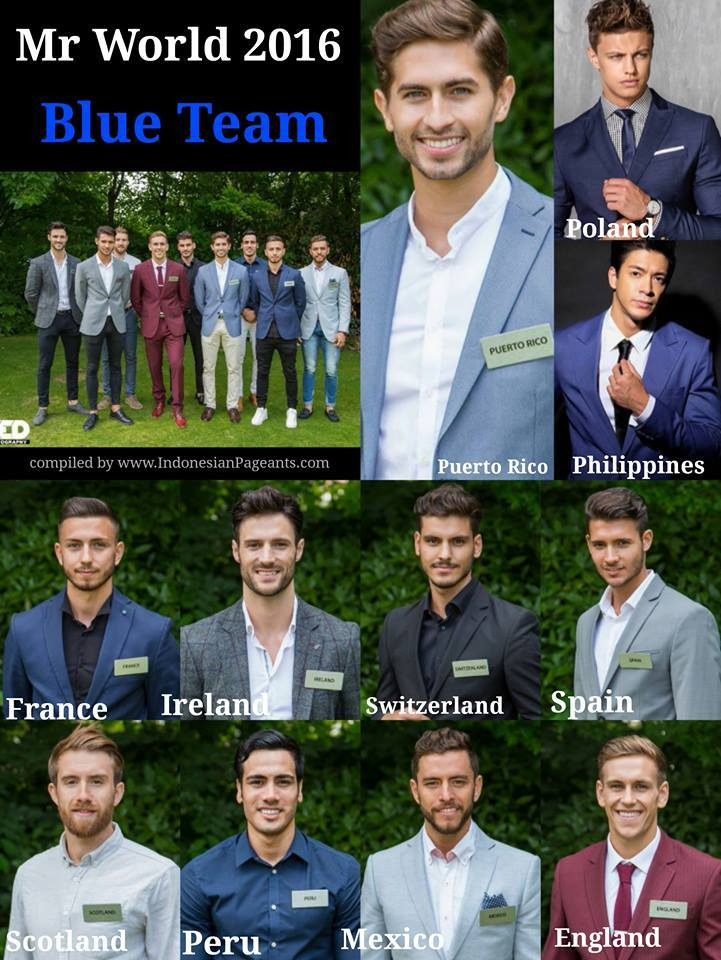 Mr World 2016 Blue Team