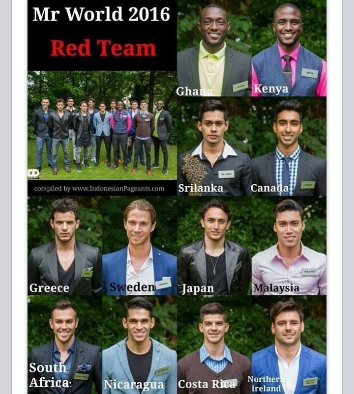 Mr World 2016 Red Team