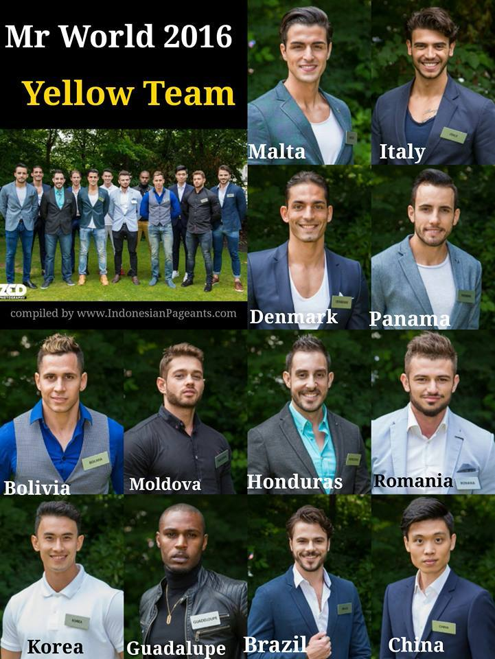 Mr World 2016 Yellow Team