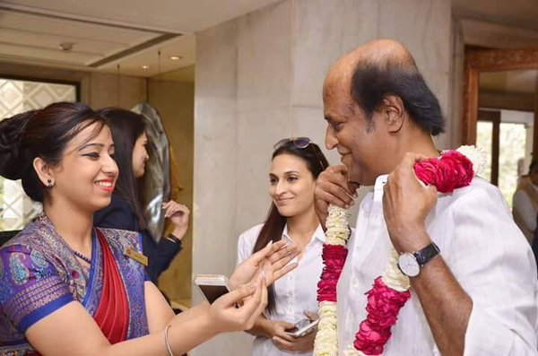 Rajinikanth with Aishwarya Dhanush