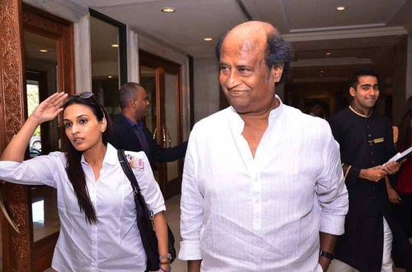 Rajinikanth with his Daughter