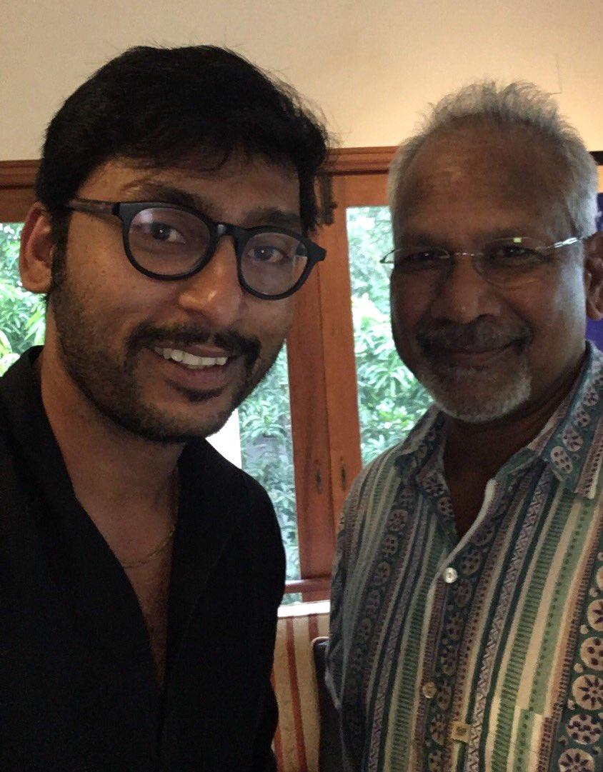 Actor RJ Balaji with Mani Ratnam