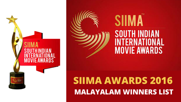 SIIMA Awards 2016 Malayalam Winners