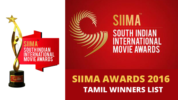 SIIMA Awards 2016 Tamil Winners