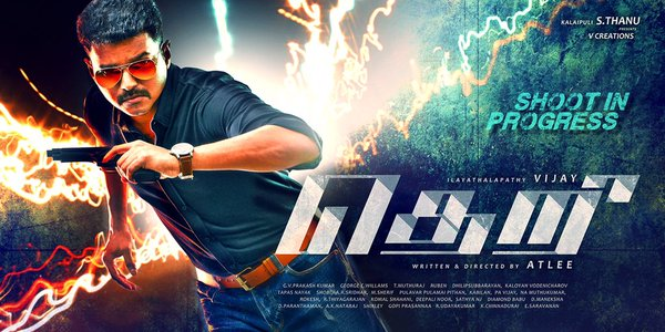 theri first look, theri poster, vijay theri movie