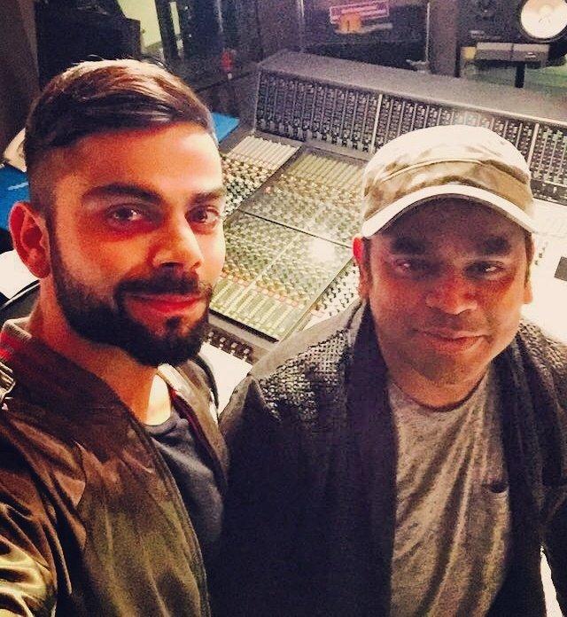 Virat Kohli Selfie with AR Rahman