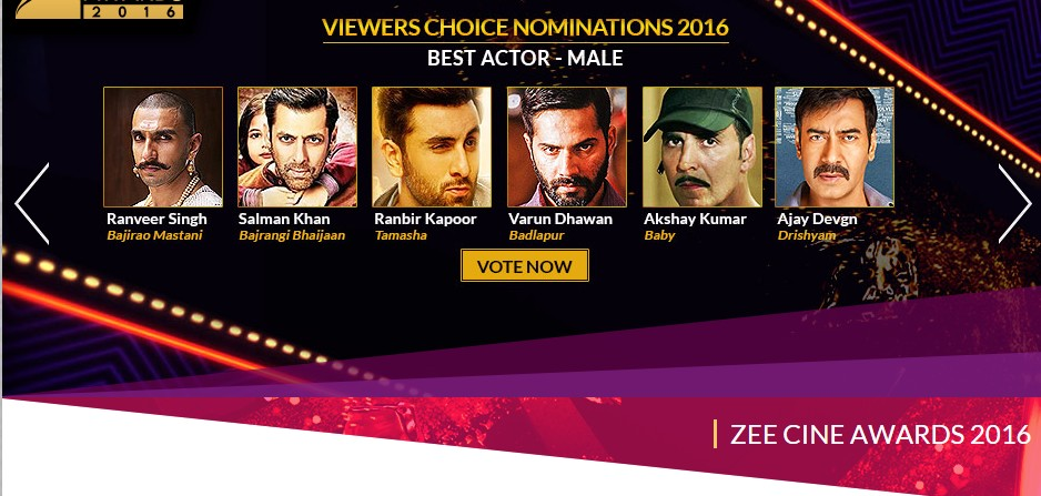 2016 Zee Cine Awards Nominees, Live Updates & Winners